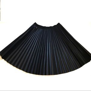 Halogen   Faux Leather Pleated Skirt